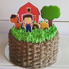 Bolo-festa-infantil-fazendinha-07 Idéias para festa Infantil com tema Fazendinha para meninos e meninas