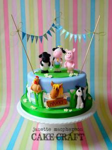 Bolo-festa-infantil-fazendinha-10 Idéias para festa Infantil com tema Fazendinha para meninos e meninas
