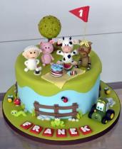 Bolo-festa-infantil-fazendinha-18 Idéias para festa Infantil com tema Fazendinha para meninos e meninas