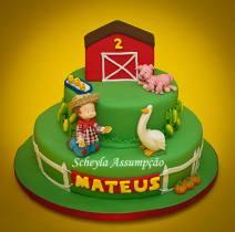 Bolo-festa-infantil-fazendinha-22 Idéias para festa Infantil com tema Fazendinha para meninos e meninas