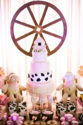 Bolo-festa-infantil-fazendinha-menina-01 Idéias para festa Infantil com tema Fazendinha para meninos e meninas