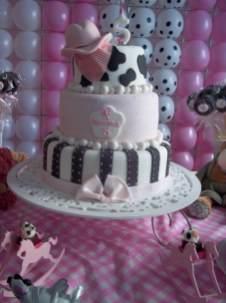 Bolo-festa-infantil-fazendinha-menina-03 Idéias para festa Infantil com tema Fazendinha para meninos e meninas