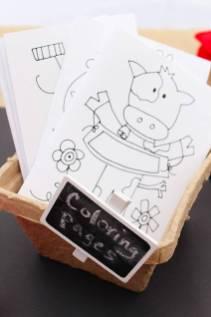 Lembrancinha-aniversário-fazendinha-folhas-para-colorir Idéias para festa Infantil com tema Fazendinha para meninos e meninas