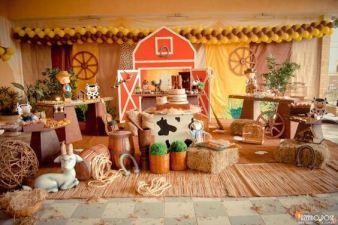 aniverssário-infantil-decoração-tema-festa-fazendinha-03 Idéias para festa Infantil com tema Fazendinha para meninos e meninas