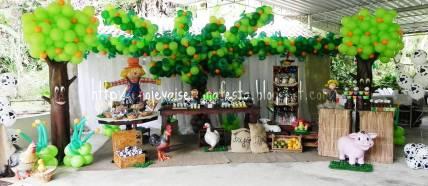 aniverssário-infantil-decoração-tema-festa-fazendinha-10 Idéias para festa Infantil com tema Fazendinha para meninos e meninas