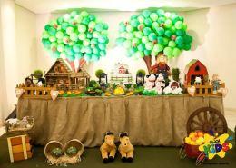 aniverssário-infantil-decoração-tema-festa-fazendinha-11 Idéias para festa Infantil com tema Fazendinha para meninos e meninas