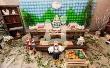 aniverssário-infantil-decoração-tema-festa-fazendinha-13 Idéias para festa Infantil com tema Fazendinha para meninos e meninas