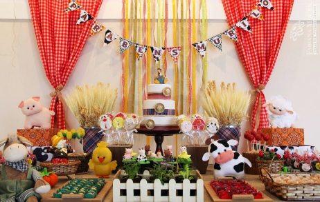 aniverssário-infantil-decoração-tema-festa-fazendinha-15 Idéias para festa Infantil com tema Fazendinha para meninos e meninas