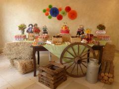 aniverssário-infantil-decoração-tema-festa-fazendinha-21 Idéias para festa Infantil com tema Fazendinha para meninos e meninas