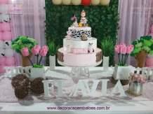aniverssário-infantil-decoração-tema-festa-fazendinha-menina-07 Idéias para festa Infantil com tema Fazendinha para meninos e meninas