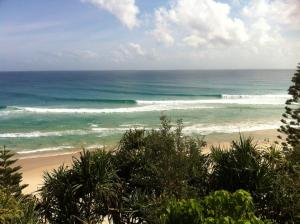 O surfe no superbanks da Gold Coast