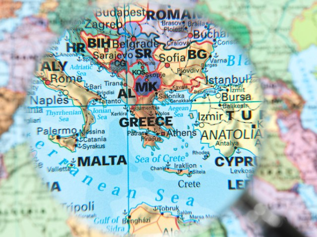 mapa da Europa com foco em Malta