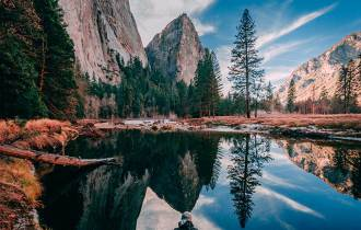 paisagem do parque yosemite nos estados unidos
