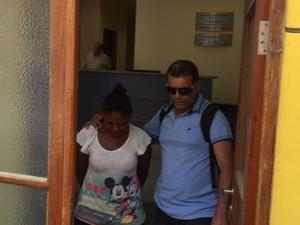 Thuane foi levada para o Complexo Penitenciário de Gericinó (Foto: Henrique Coelho/G1)
