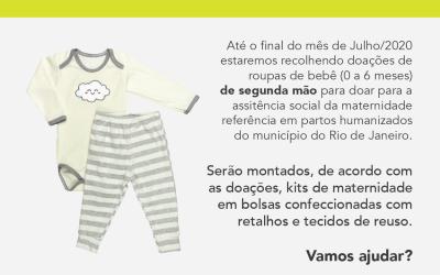 Segunda ronda de doações para bebês de 0 a 6 meses.