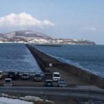 今日の小樽南防波堤、残念な状況(ー ー;)