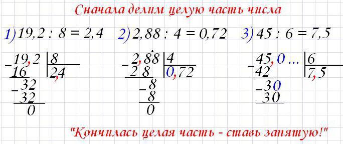 онлайн калькулятор в столбик десятичные дроби деление