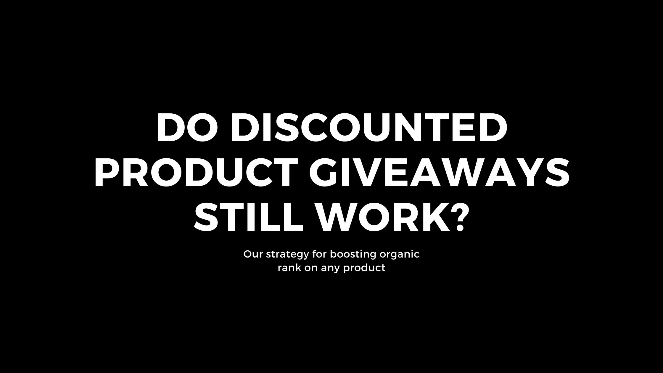 discounted product giveaways in amazon