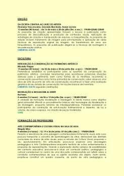 AS DATAS ANUNCIADAS PODERÃO ESTAR SUJEITAS A ALTERAÇÃO