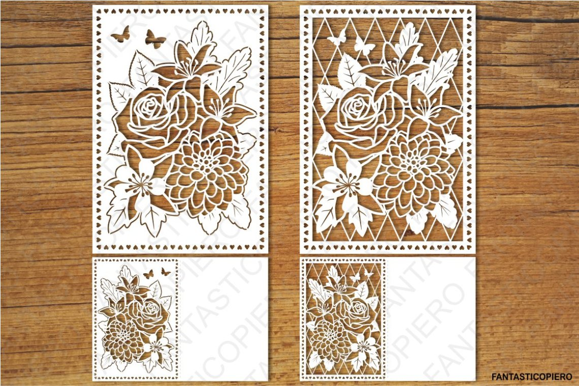 Download Floral Greeting Card 3 SVG files for Silhouette and Cricut.