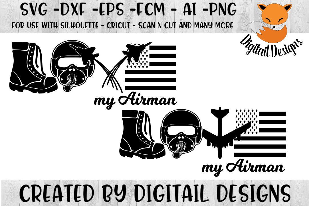 Download Airman Love SVG - Silhouette - Cricut - Scan n Cut (143509 ...