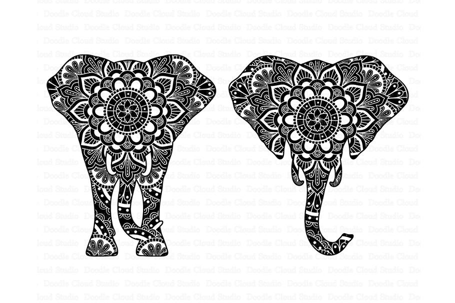 Download Elephant SVG, Elephant Head Mandala SVG files.