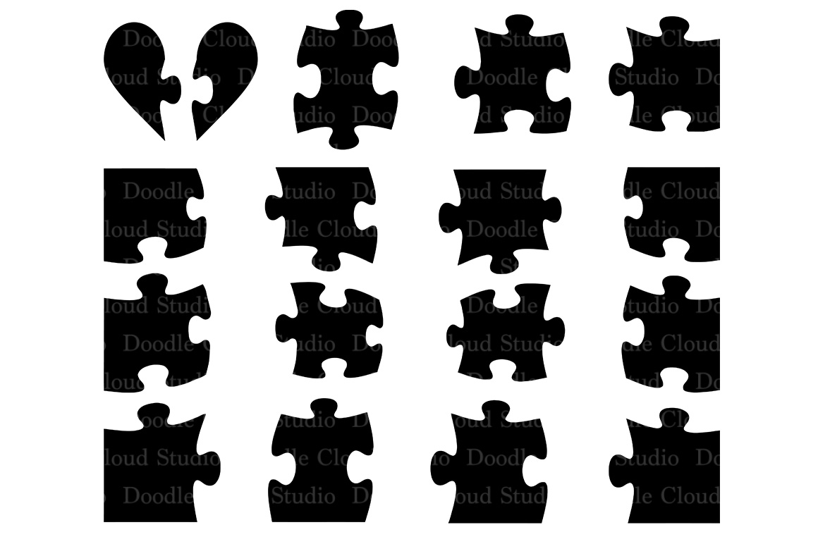 Jigsaw Puzzle Svg Puzzle Piece Svg Files For Silhouette