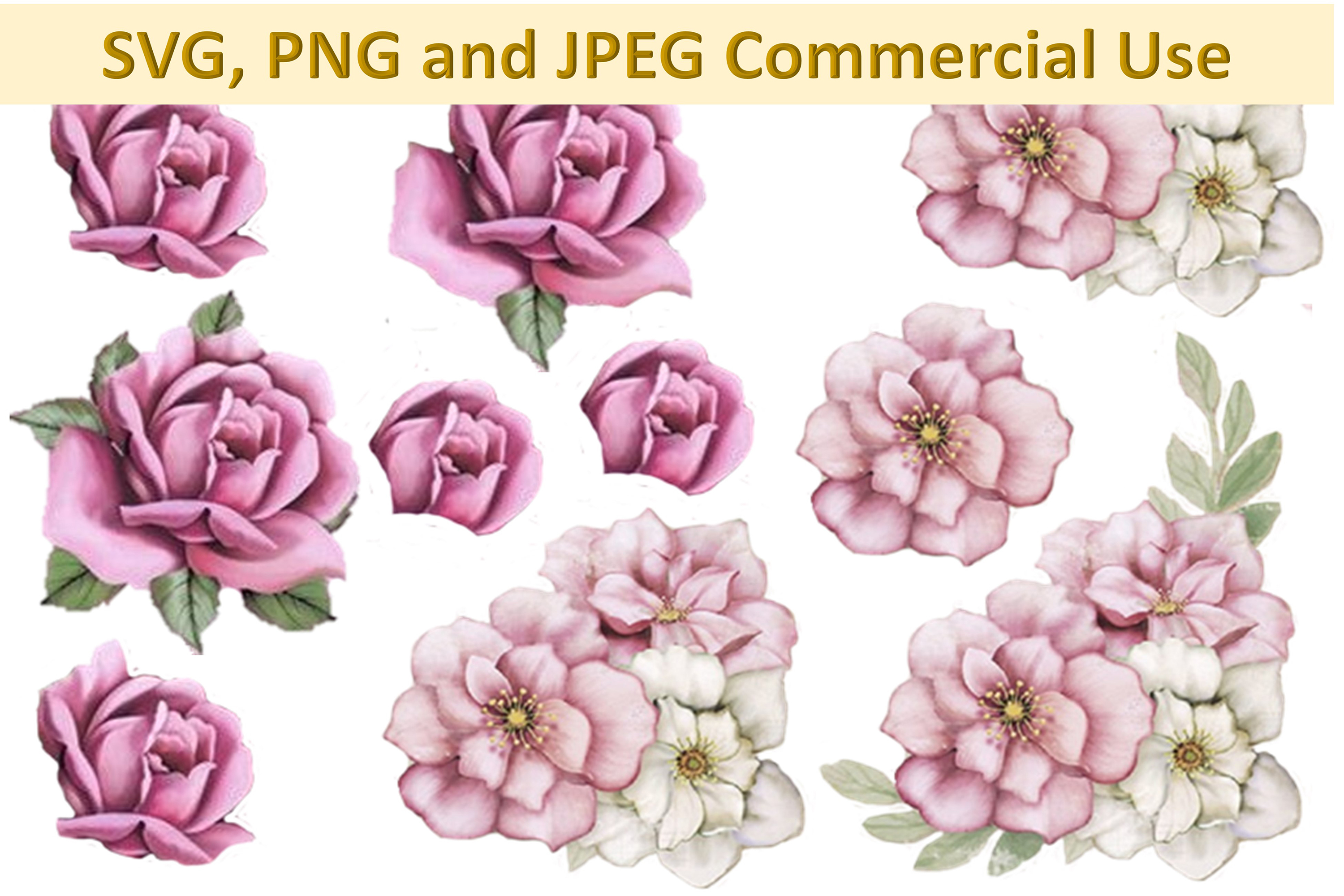 Svg And Decoupage Collage Sheets Woodland Roses