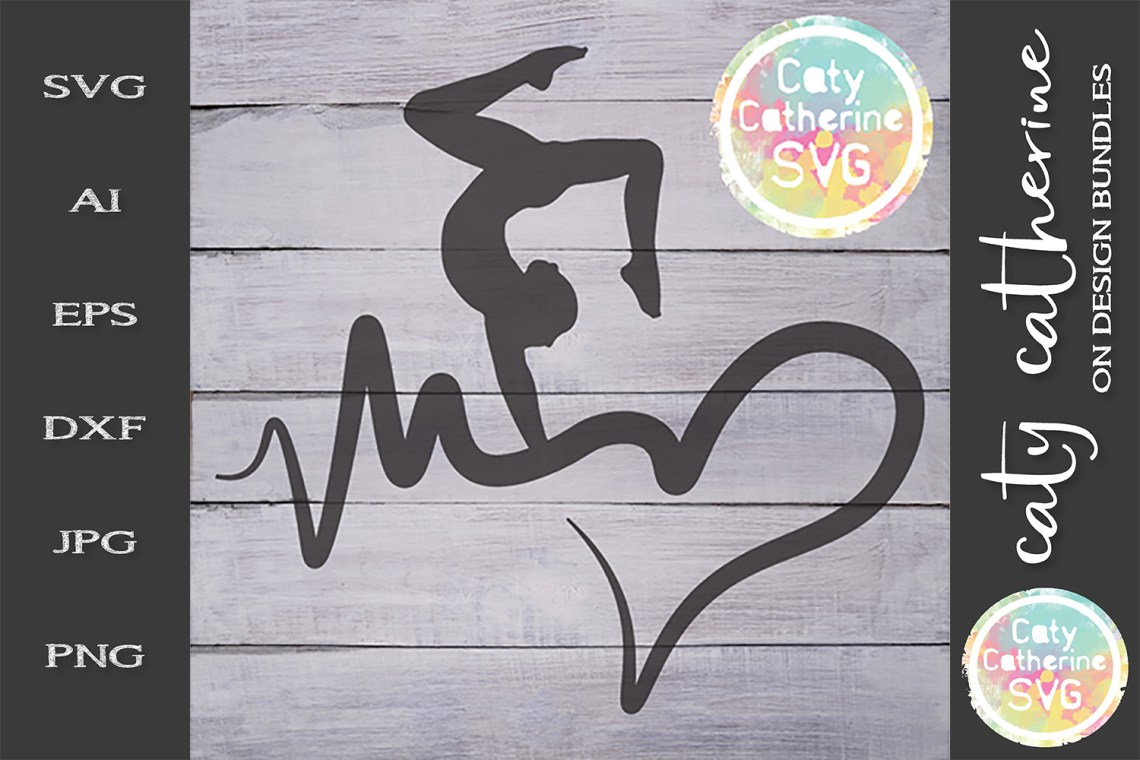 Download Heartbeat Love Heart Gymnastics SVG Cut File (243987 ...