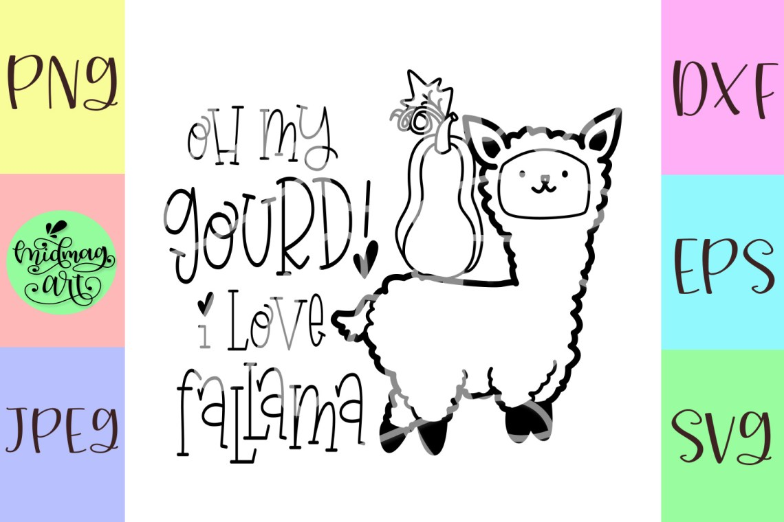 Download Oh my gourd i love fallama svg, fall svg (351088) | SVGs ...