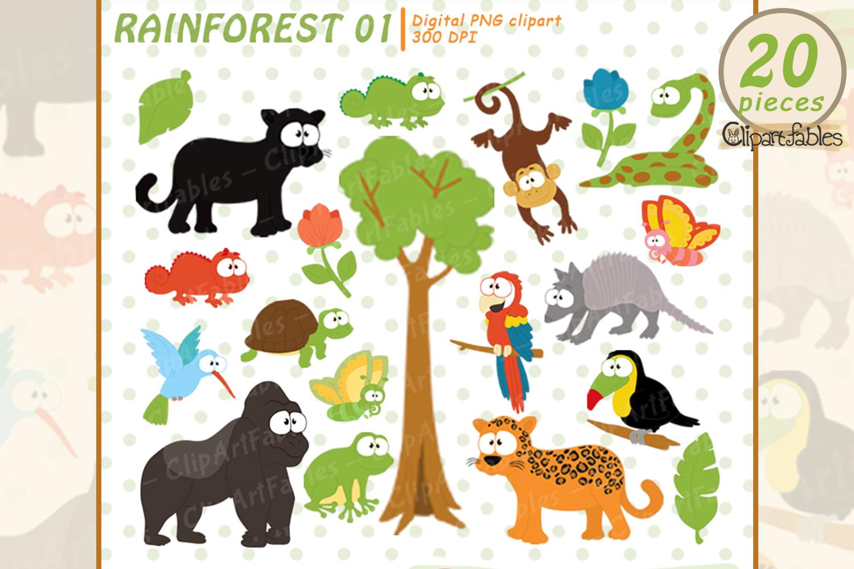 Rainforest Clipart Cute Wild Animals Clip Art Jungle Art