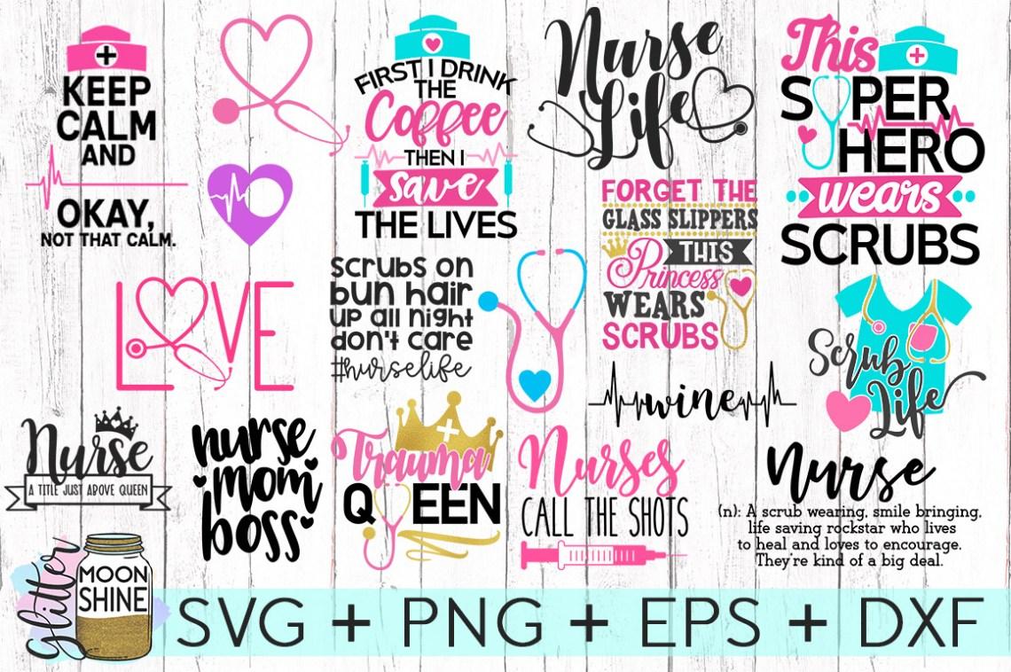 Download Nurse Bundle SVG DXF PNG EPS Cutting Files (65874)   SVGs ...