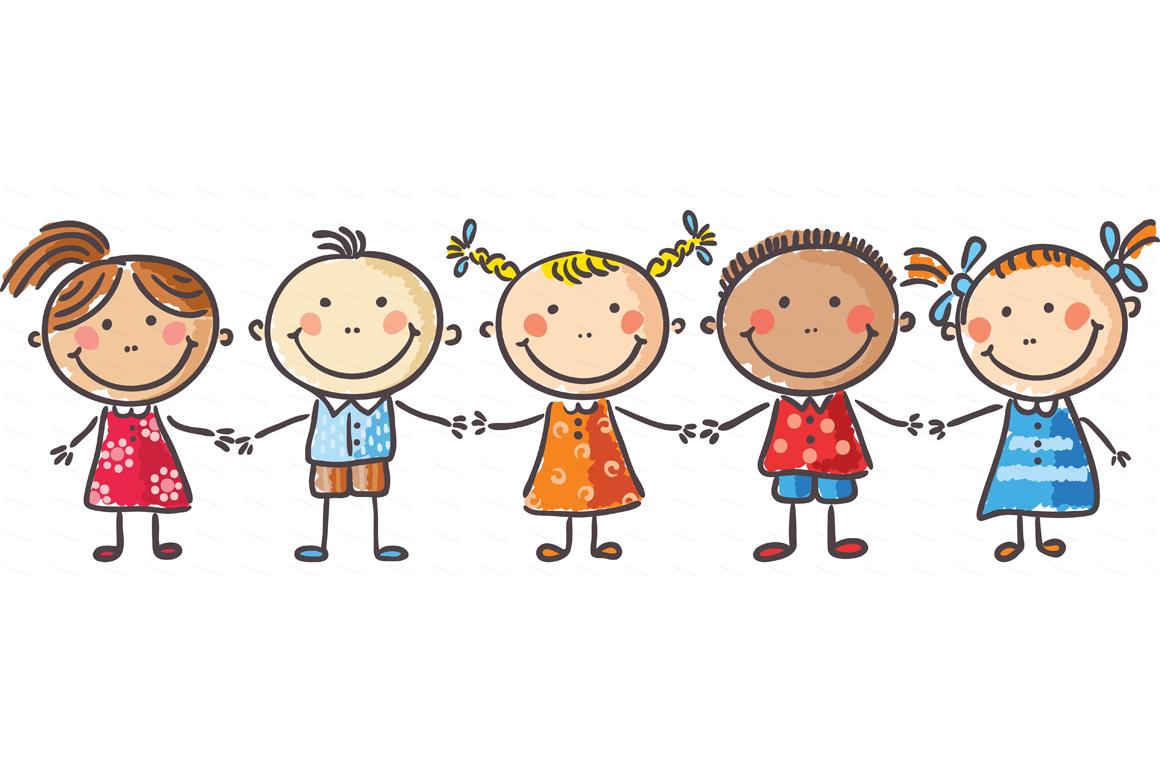 Happy Cartoon Kids Bundle Children Doodle Kids Doodle