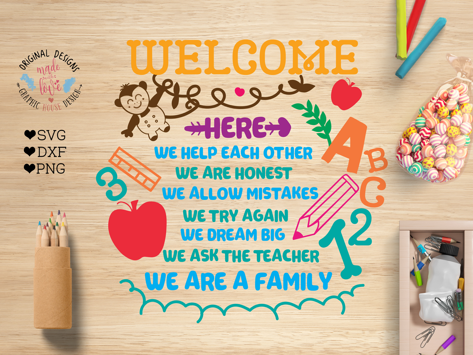 Classroom Rules For Kids Cut File Svg Dxf