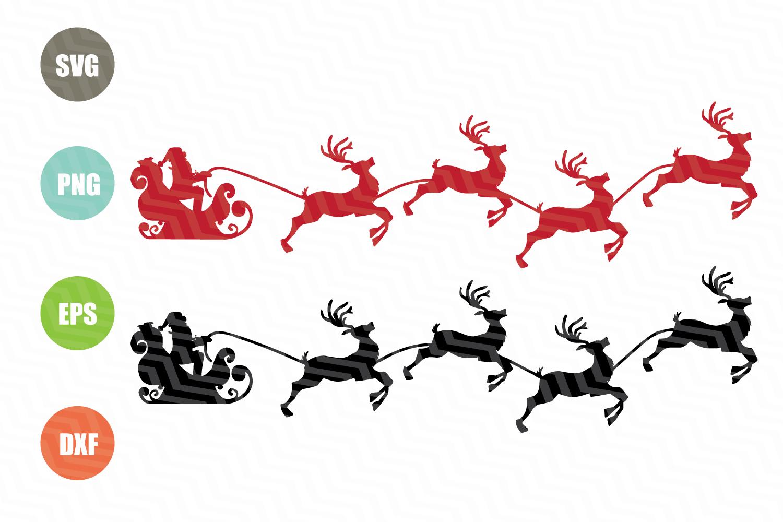 Santa Claus With Reindeer Svg