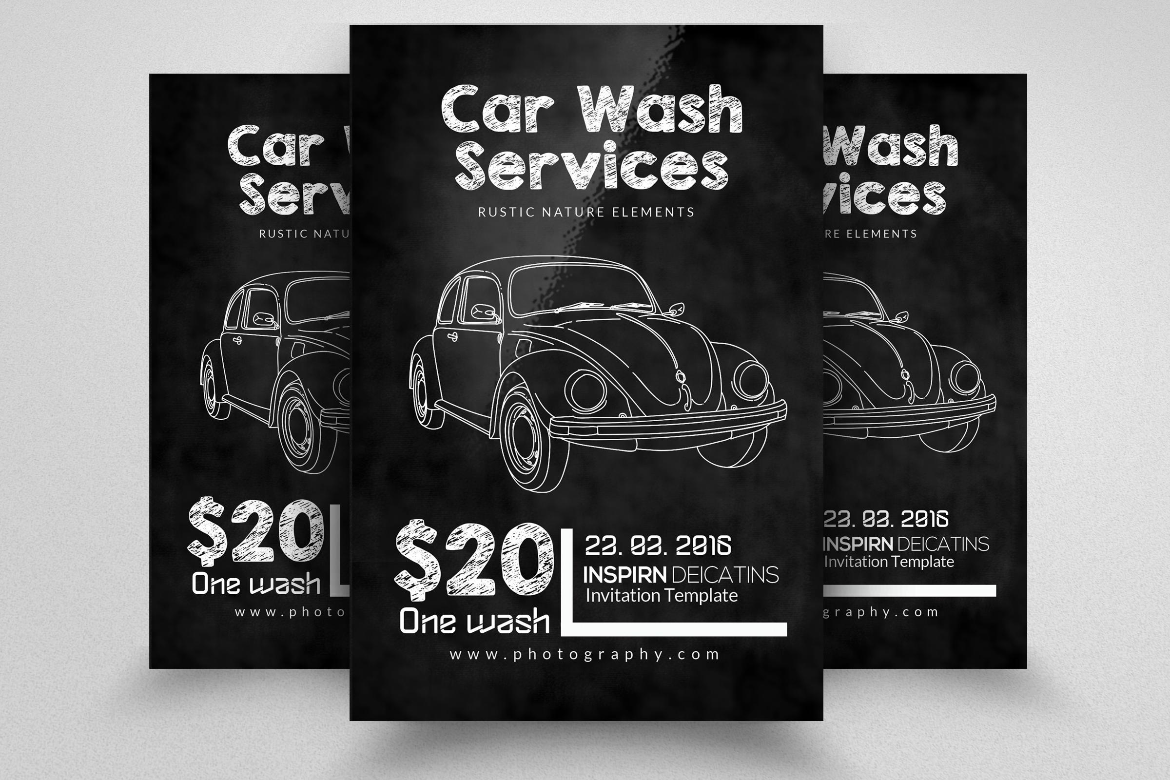 Chalkboard Car Wash Flyer