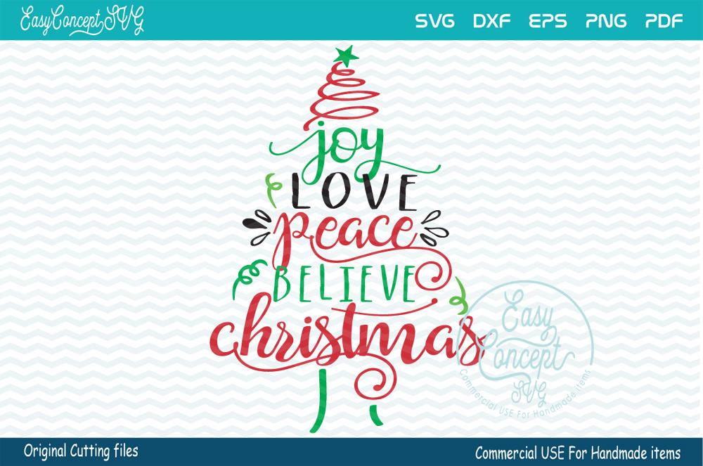 Download Joy Love Peace Believe Christmas