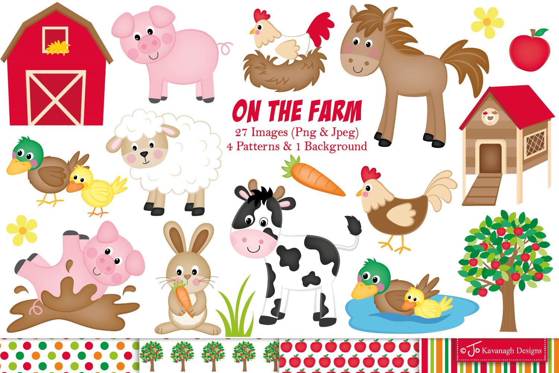Farm Clipart Farm Animals Graphics Amp Illustrations C11