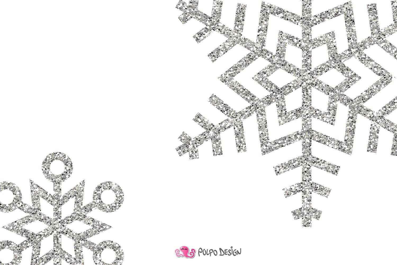 Silver Glitter Snowflakes Clipart