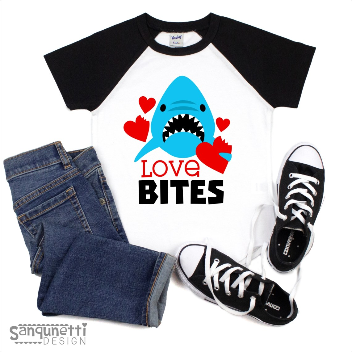 Download Love Bites Valentine SVG, Shark cutting file for boys