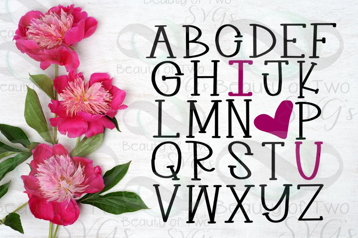 Download Farmhouse Valentines I love you Alphabet svg, love svg ...