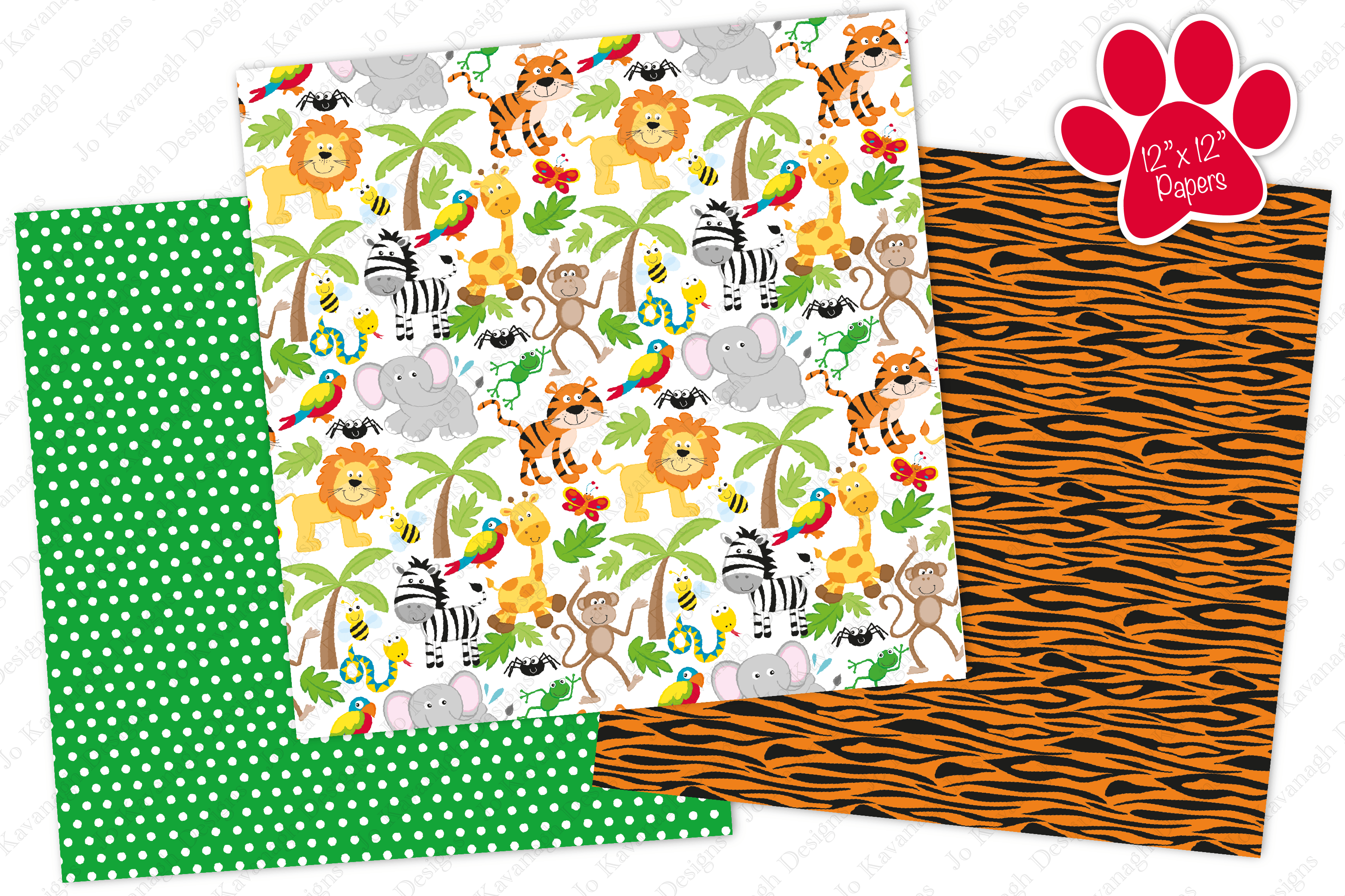 Jungle Digital Papers Jungle Patterns Jungle Animal Papers