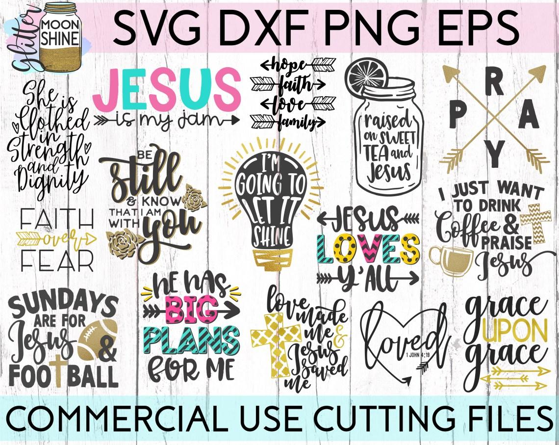 Download Jesus Loves Y'all Big Bundle SVG DXF PNG EPS Cutting Files