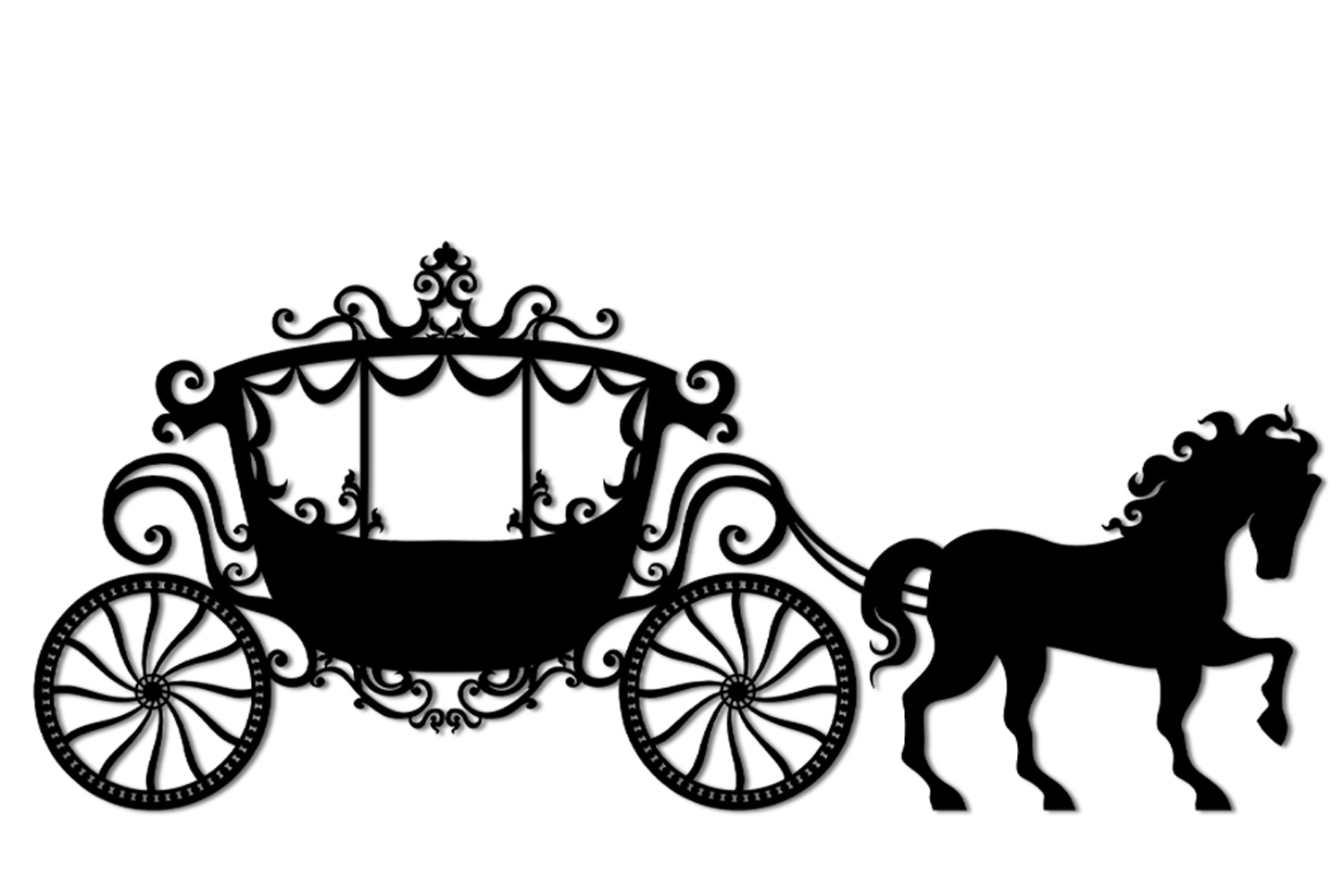 Svg And Cutting Files Vintage Carriage Clipart