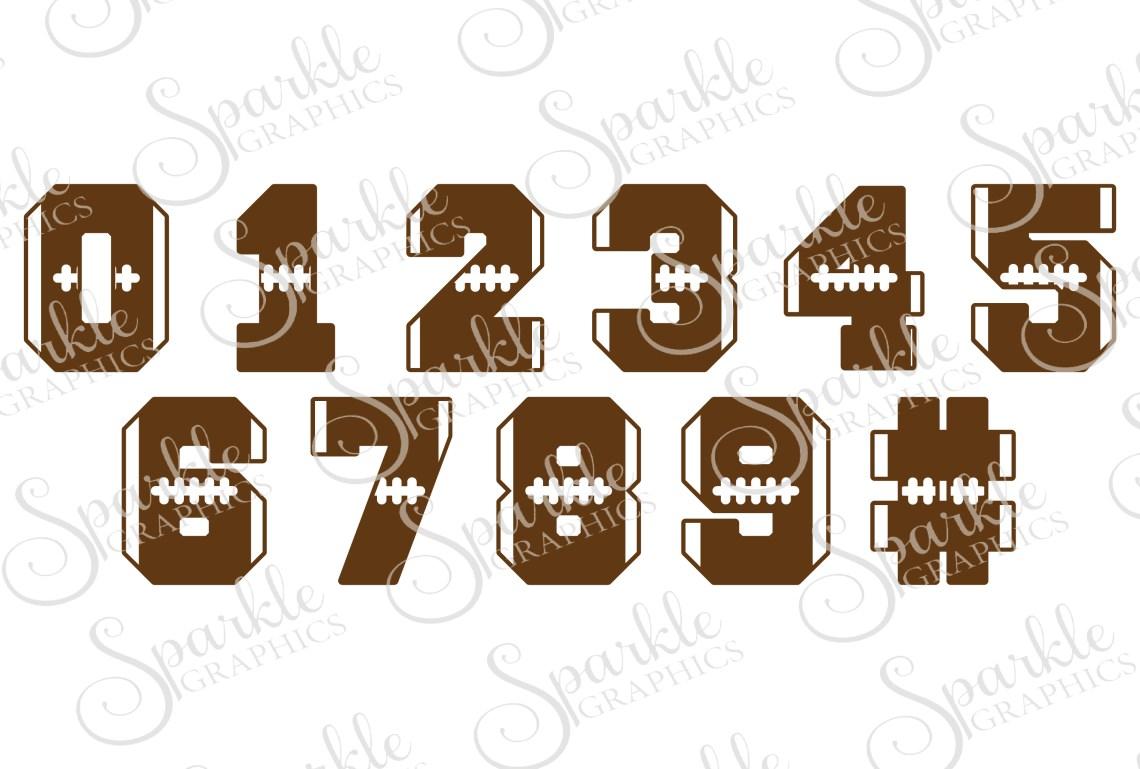 Download Football Number Font Cut File Set | SVG, EPS, DXF, PNG