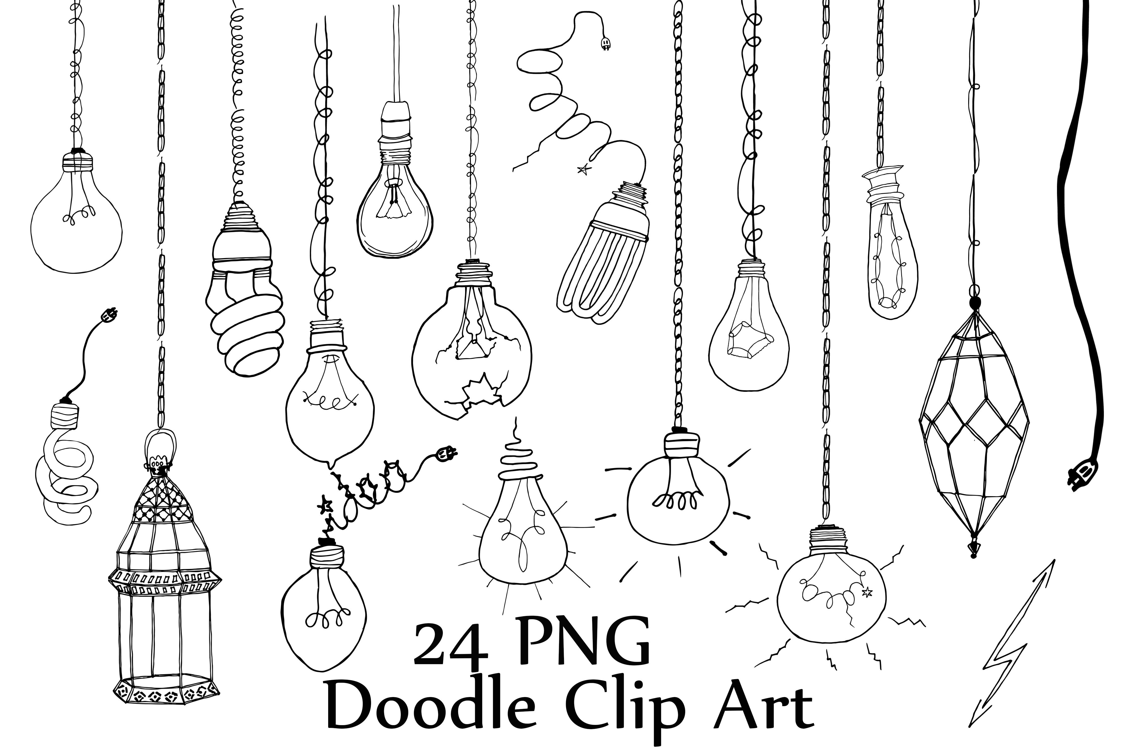 Light Bulb Doodle Clipart