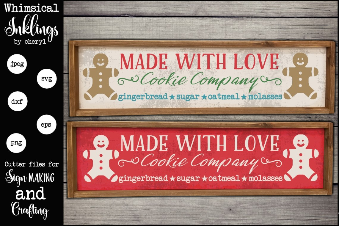 Download Made With Love Cookie Company SVG