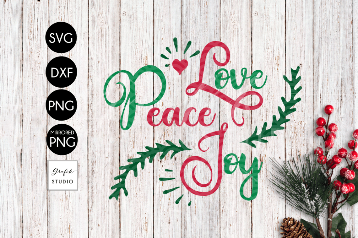 Download Love Peace Joy CHRISTMAS SVG File, DXF file, PNG file ...