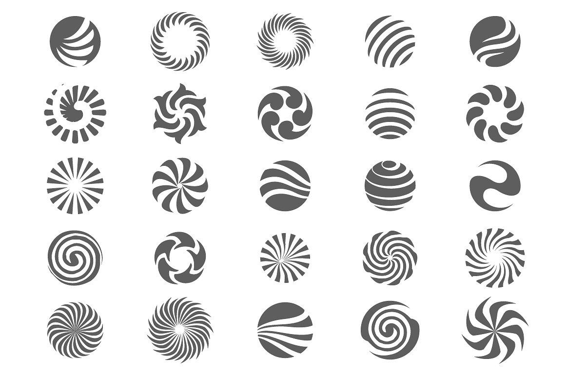 25 Abstract Circle Symbols