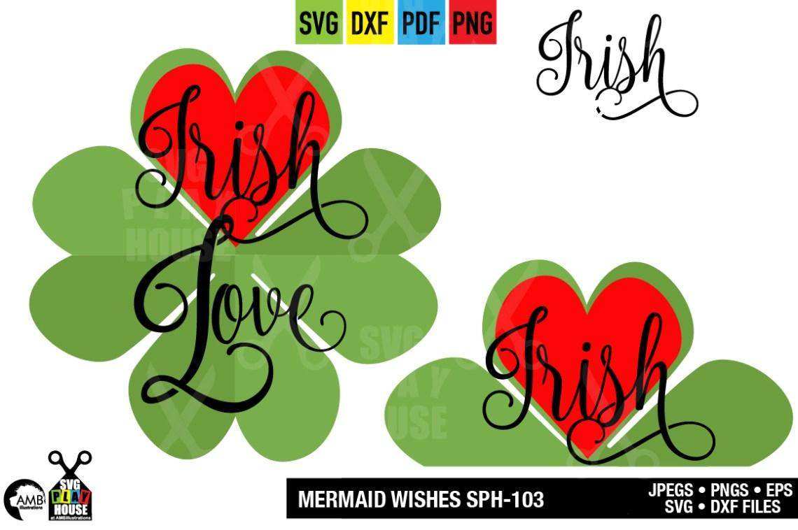 Download SHAMROCK LOVE SVG, SPH-138 (303405) | Illustrations ...
